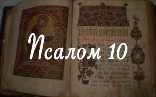 Псалом 10: текст молитвы, для чего читают