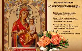 2 молитвы иконе Божией Матери «Скоропослушница»