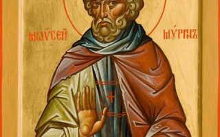 Молитва, тропарь и кондак святому Моисею Мурину